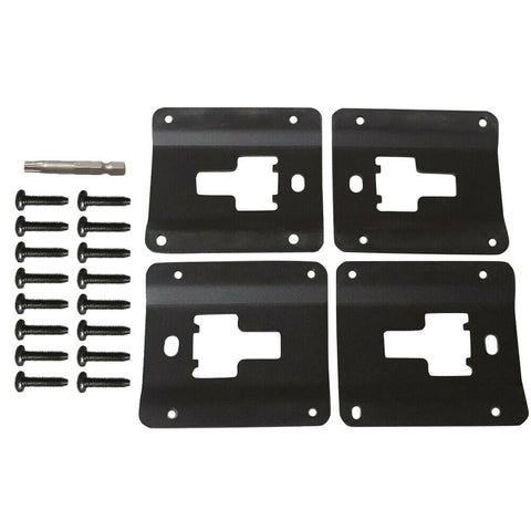 Tie Down Brackets Truck Bed Cargo for 2015-2019 Ford F150 F250 F350, Standard Bed Interface Plate Set 4 with 16 Anti-Theft Screws