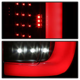 Black 2017-2019 Ford F250 F350 SuperDuty LED Light Tube Tail LIghts Backup Lamps