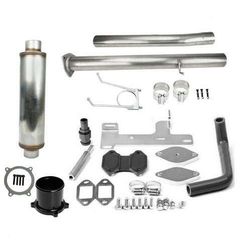 "6.7 Cummins 4""DPF EGR DEF Delete Throttle Valve Muffler Pipe Kit for 2010-2014 Dodge Ram 6.7L 2500 3500 Cummins Diesel"