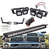 21 Inch LED Light Bar Lower Bumper Bracket Kits+Remote 2003-2020 Dodge Ram 2500/3500