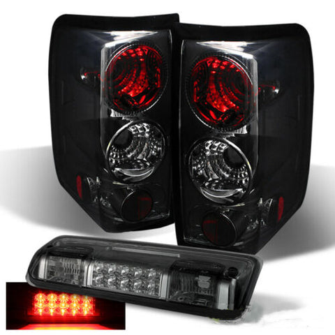 Tail Lights for Smoked 2004-2008 Ford F150   +3rd LED Brake Cargo Lamp Left+Right