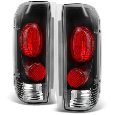 Black Tail Lights Lamps Replacement Fit 1989-1996 Ford Bronco F150 F250 F350