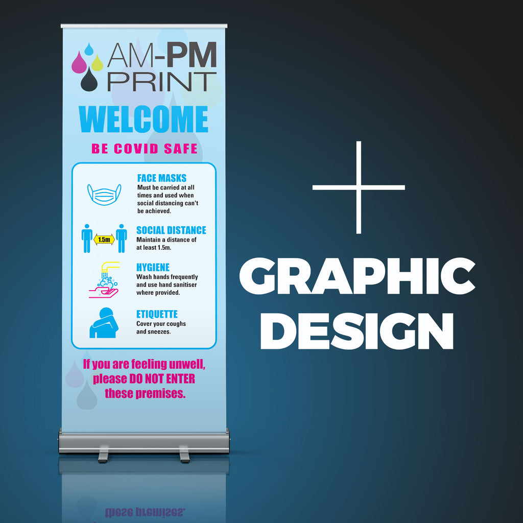 Pull-Up Banner - 850 x 2000mm plus Graphic Design