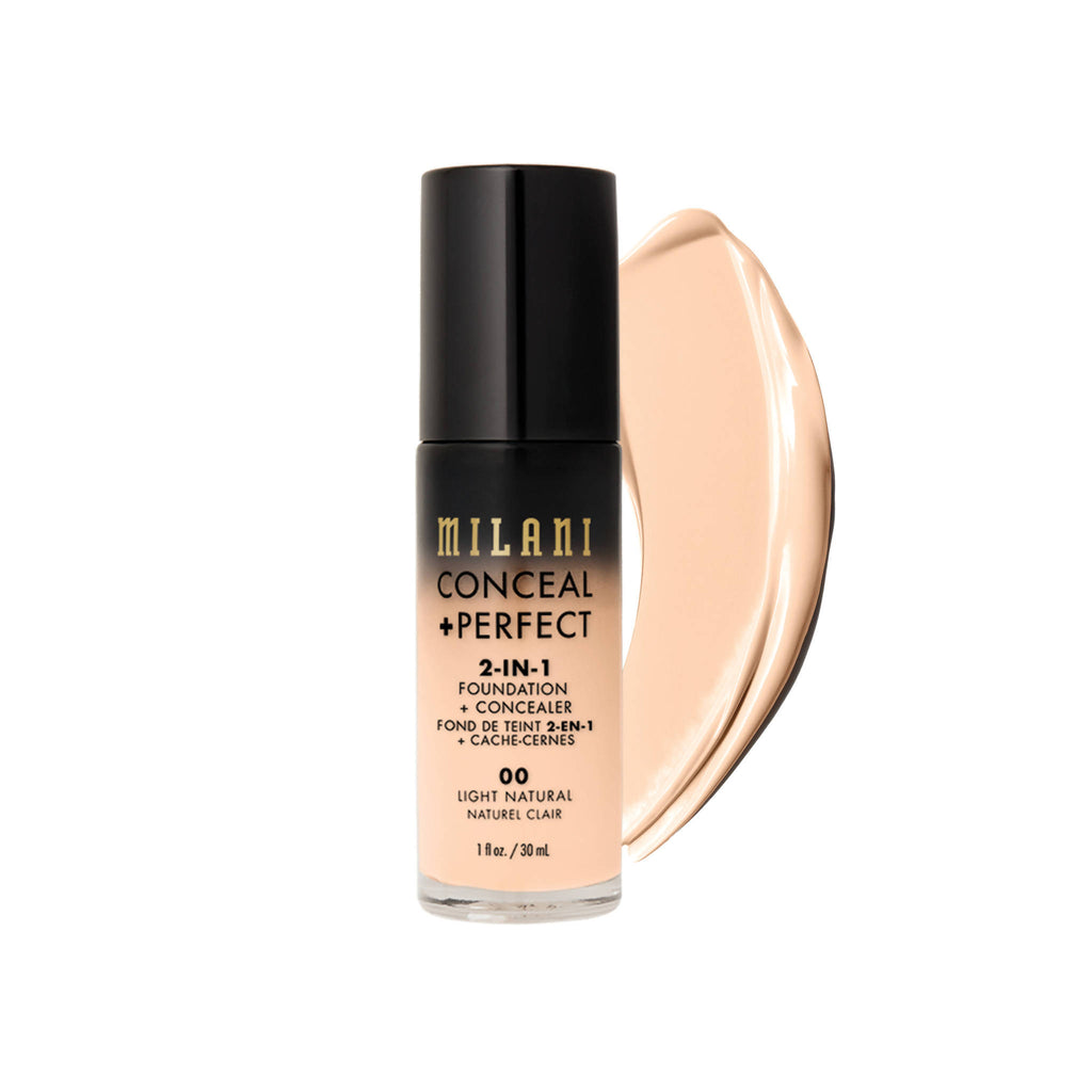 Milani CONCEAL + PERFECT 2-IN-1 FOUNDATION AND CONCEALER - light natural