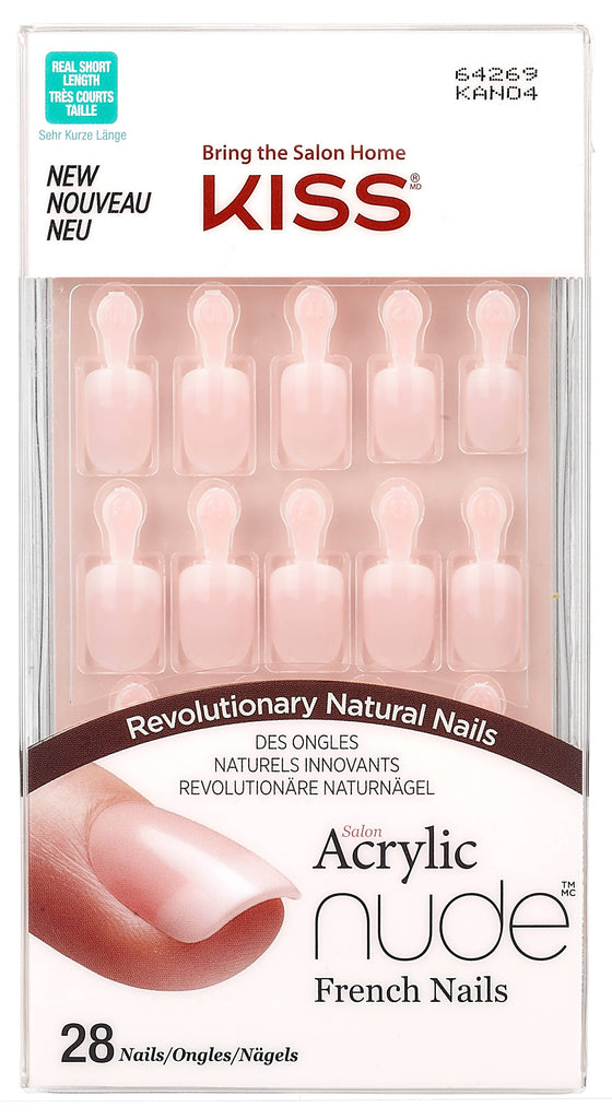 Kiss Salon Acrylic Nude French Nails Kan04C