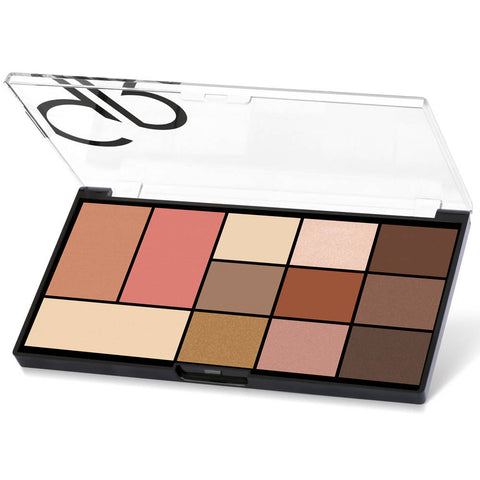 Golden Rose City Style Face & Eye Palette -01-Warm Nude