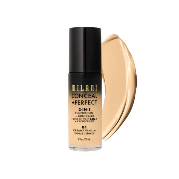 Milani CONCEAL + PERFECT 2-IN-1 FOUNDATION AND CONCEALER - creamy vanilla
