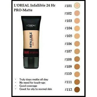 L'Oreal Infallible Pro-Matte Foundation- Classic Ivory (101)