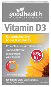 Good Health Products Vitamin D3 1000IU
