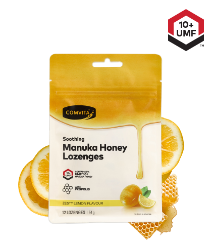 Comvita Lemon and Honey Individual Lozenges