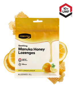 COMV Lemon & Honey Lozenges bagged