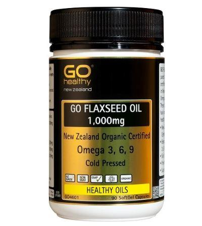 Go Healthy Go Flaxseed Oil 1000mg Org