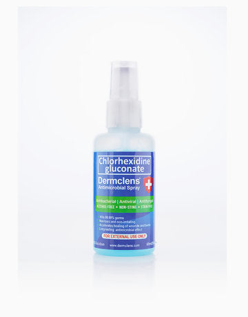 Dermclens (Chlorhexidine Gluconate) Antimicrobial Hand Sanitizer Spray
