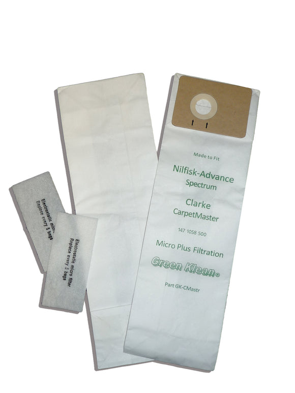 Advance Replacement Spectrum S12 / S15 Micro Plus Filtration Bags, 10PK (GK-CMASTER)