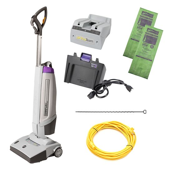 ProTeam 107499 FreeFlex Cordless / Corded Upright Vacuum