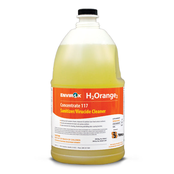 EnvirOx 117-04B H2Orange2 Concentrate 117, Sanitizer/Virucide Cleaner, 4/1 Gal.
