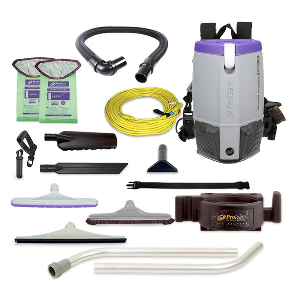 ProTeam 107474 Super Coach Pro 6 HEPA Backpack Vacuum w/ OS1 Kit