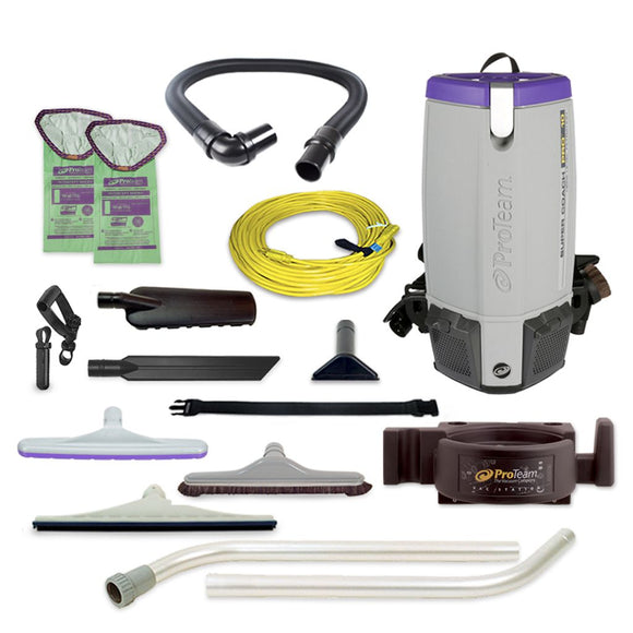ProTeam 107475 Super Coach Pro 10 HEPA Backpack Vacuum w/ OS1 Kit