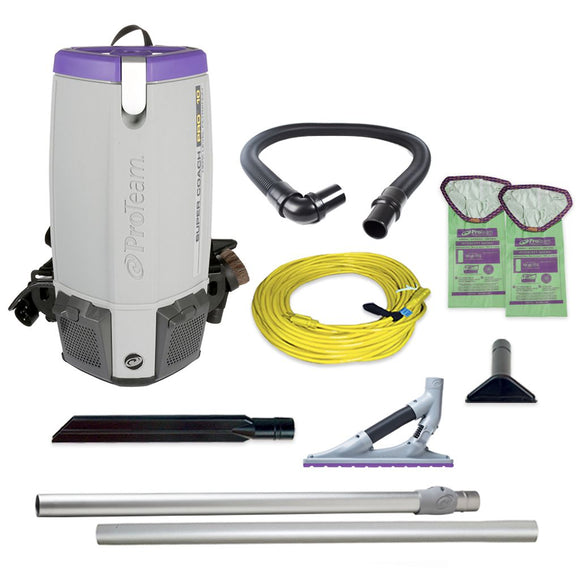 ProTeam 107536 Super Coach Pro 10 HEPA Backpack Vacuum w/ ProBlade Carpet Tool Kit (107530)