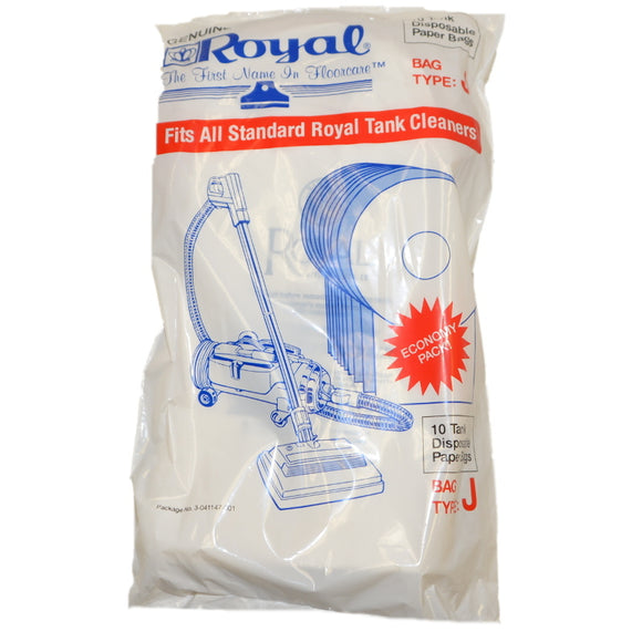 Royal Genuine Type J Standard Filtration Bags 10pk, 3041147001