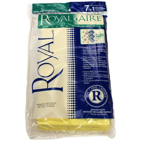 Royal Genuine Type R Royal-Aire Filtration Bags 7+1, 3RY3100001