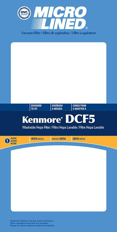 Kenmore Replacement DCF-5 Filter, 1pk