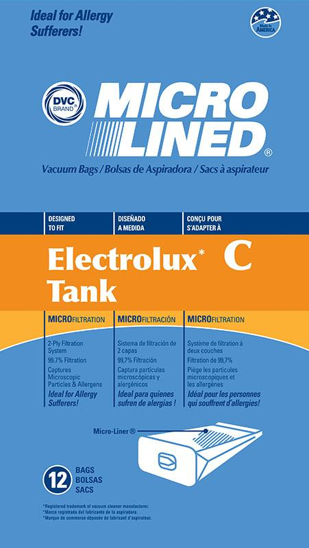 Electrolux Replacement Canister Microlined Vacuum Bag, 12pk