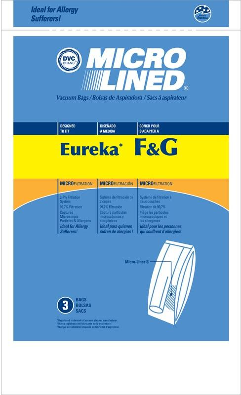 Eureka Replacement F&G Microlined Vacuum Bag, 3pk