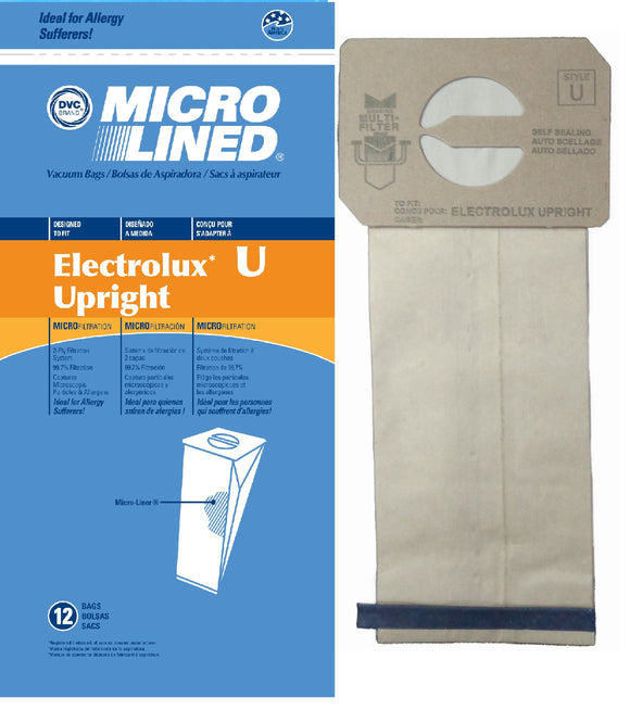 Electrolux Replacement Upright Microlined Vacuum Bag, 12pk