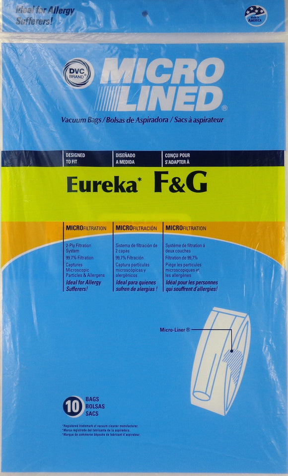 Eureka Replacement F&G Microlined Vacuum Bag, 10pk