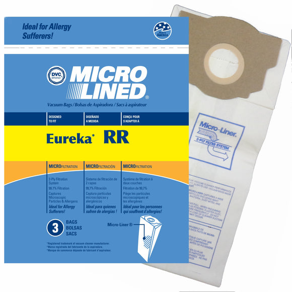 Eureka Replacement RR Microlined Vacuum Bag, 3pk