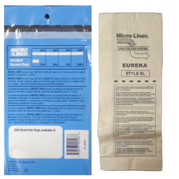 Eureka Replacement SL Microlined Vacuum Bag, 3pk