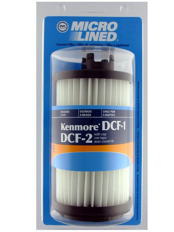 Kenmore Replacement DCF-1/DCF-2W Tower HEPA Filter w/ Cap