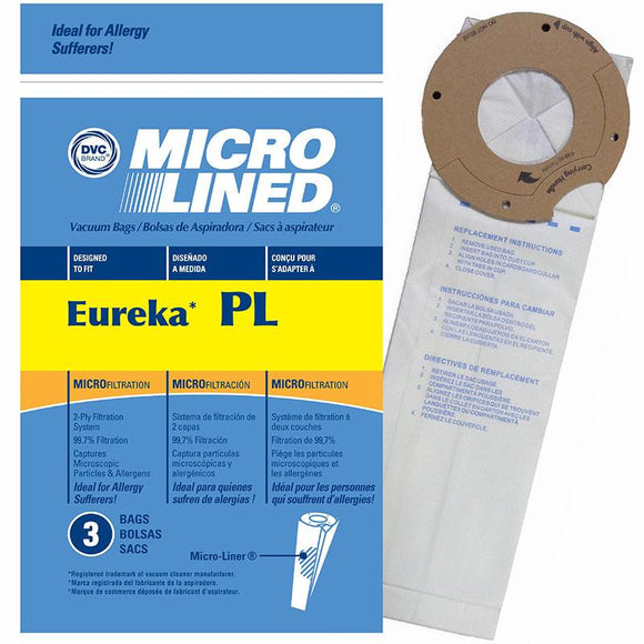 Eureka Replacement Type PL Micro Filtration Vacuum Bags, 3pk