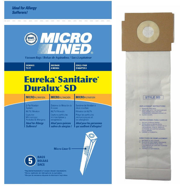 Eureka Replacement SD Microlined Vacuum Bags, 5pk