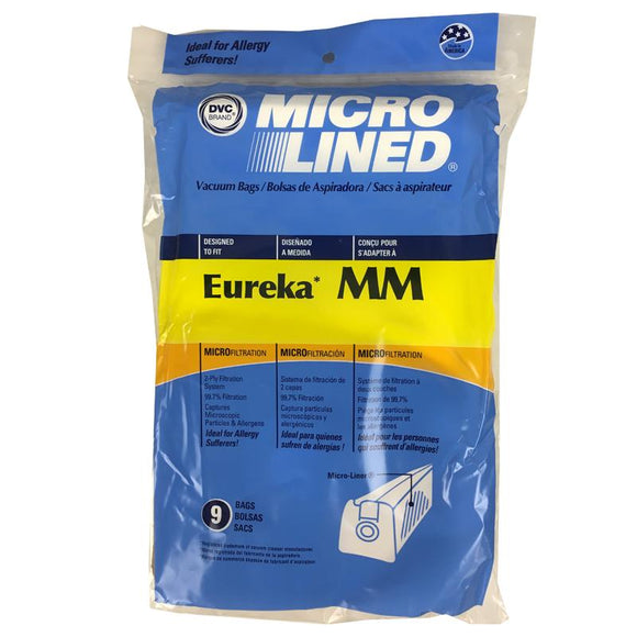 Eureka Replacement MM Microlined Vacuum Bags, 9pk