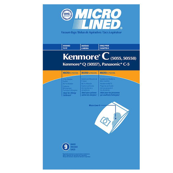 Panasonic Replacement C-5 Microlined Vacuum Bags, 9pk