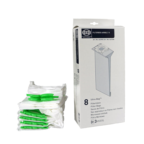 Filter Bag Box AIRBELT K (9-pc crtn), 8 three-layer Ultra Bags with caps