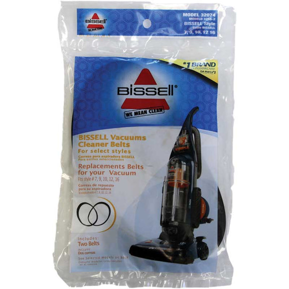 Bissell 32074 Style 7/9/10/12 Belt, 2pk
