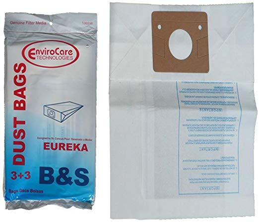 Eureka Replacement Style B&S Standard Filtration Bag, 3pk (EVC106SW)