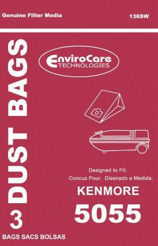 Kenmore Replacement Style 5055 Standard Filtration Bags, 3pk (EVC136SW)