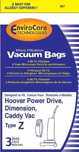 Hoover Replacement Style ZMicro Filtration Bags, 3pk (EVC857)