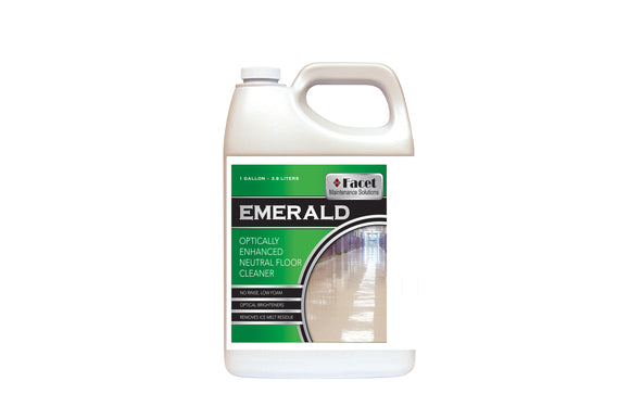 Facet Emerald Optically Enhanced Neutral Floor Cleaner, One-gallon
