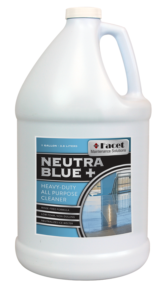 Facet Neutra Blue Plus Heavy-Duty All Purpose Cleaner & Ice Melt Neutralizer, One Gallon