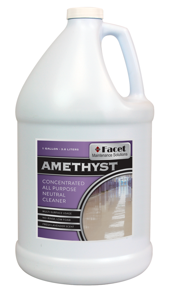 Facet Amethyst Concentrated All Purpose Neutral Cleaner, One Gallon