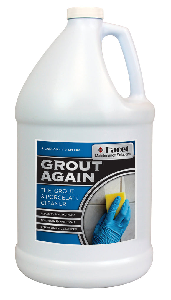 Facet Grout Again - Cleans, Maintains & Whitens, One Gallon