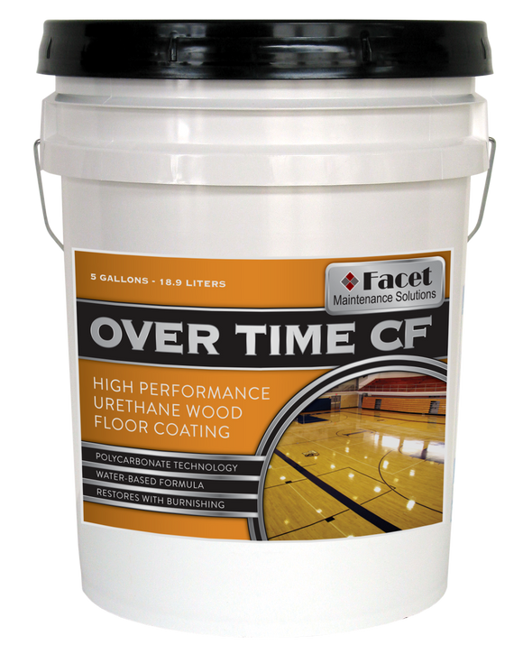Facet Over Time CF Water-Based Urethane Wood Finish, 29% Floor Solids, Five gallon pail
