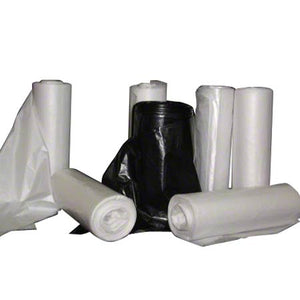 38x60 HDPE 22 micron Super Heavy Can Liner, Clear, 55 gal, Coreless roll, 150 bags/case