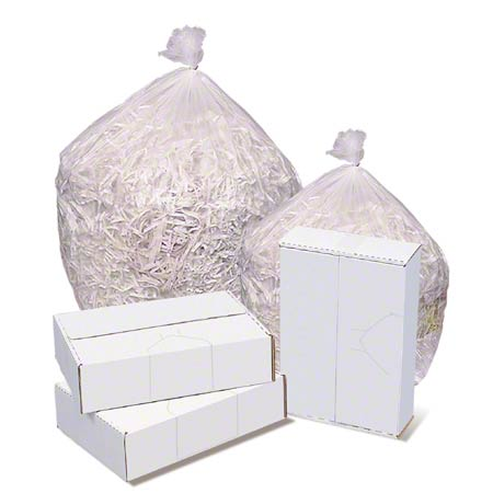 24x24 HDPE 6 micron Lightweight Can Liner, Natural Clear, 7-10 gal, Coreless roll, 1000 bags/case