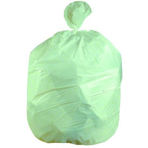 40x46 Biodegradeable HDPE 14 micron Green Can Liner, 40-45 gal, coreless roll, 250 bags/case